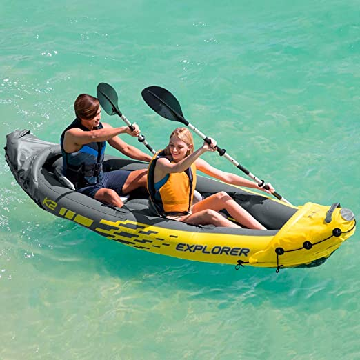 Intex Kayak Canoa hinchable Explorer K2 2 plazas: Amazon.es ...