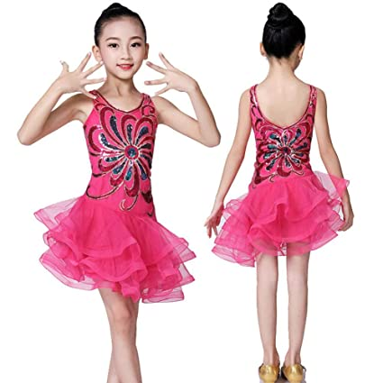 Vestido de Baile Latino para niñas, Vestido de tutú con ...