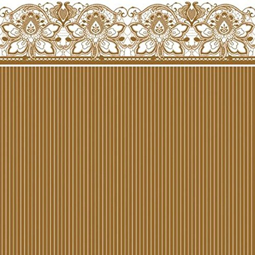 Lunch Napkins Gold Lace/Case of 240