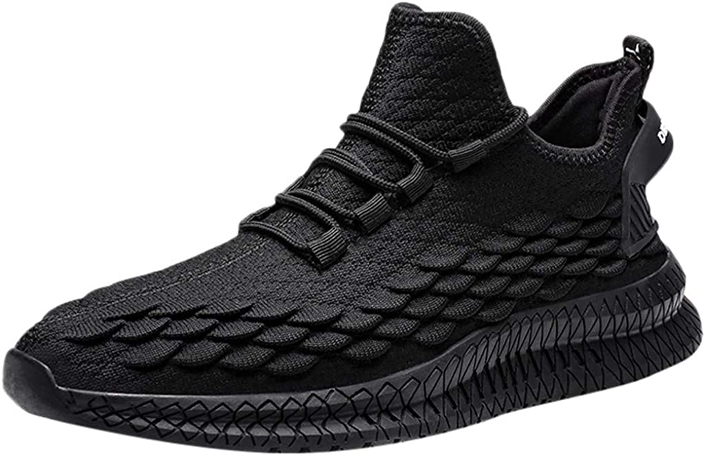 Golike Mens Casual Athletic Sneakers Knit Running Tennis Shoe Walking Baseball Jogging Casual Breathable Sports Shoes