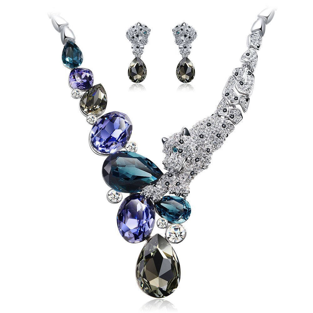 IUHA ''Jewelery Design Winning Works'' Necklance and Earrings Luxury Jewelry Sets Swarovski Crystals Women by IUHA
