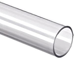 """Polycarbonate Tubing, 3/4"""" ID x 1"""" OD x 1/8"""" Wall, Clear Color 24"""" L"""