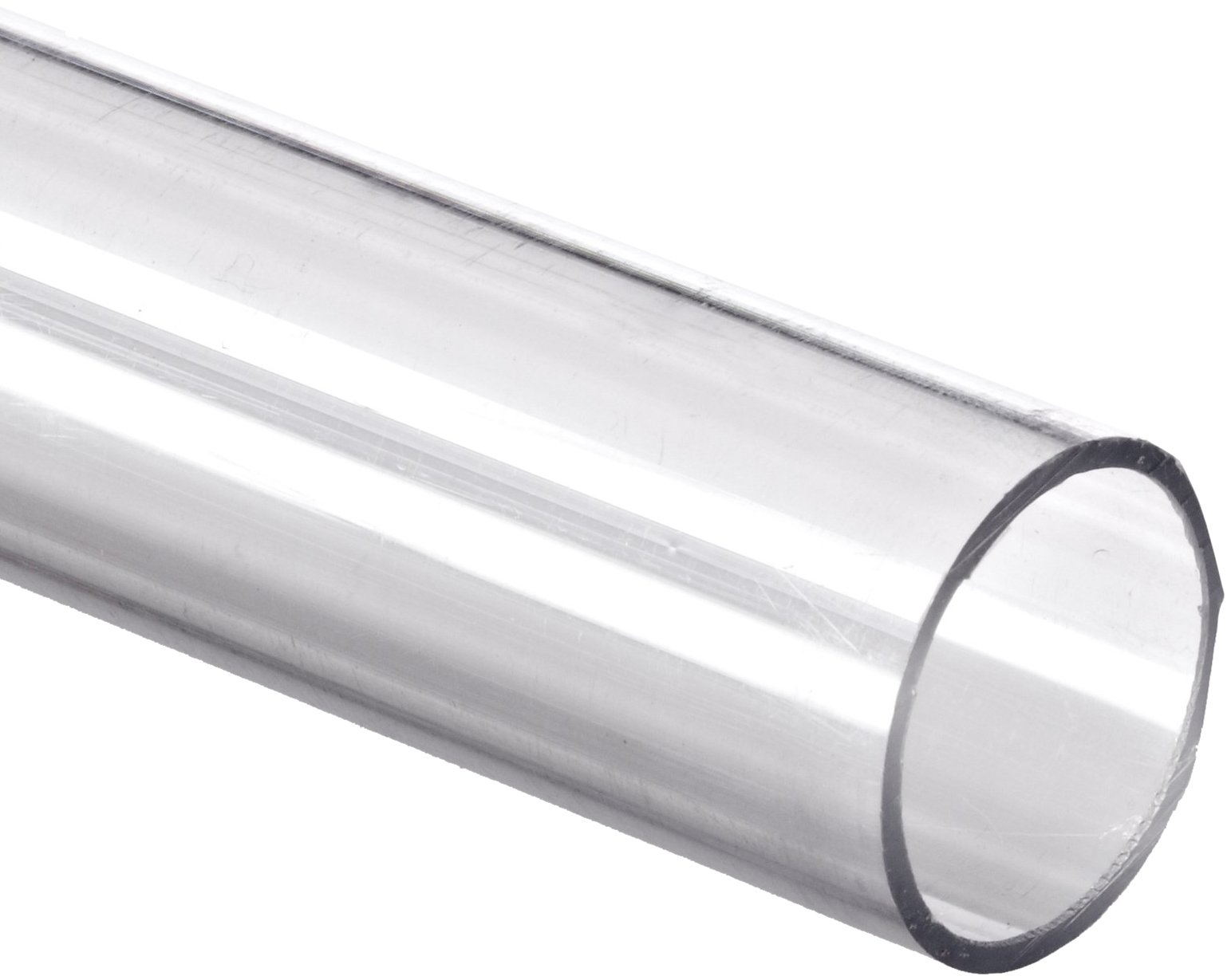 Polycarbonate Tubing, 3/4'' ID x 1'' OD x 1/8'' Wall, Clear Color 72'' L