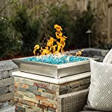 Alpine Flame Lavelle 18-inch Square Low-rise Natural Gas Column Fire Bowl - Stainless Steel