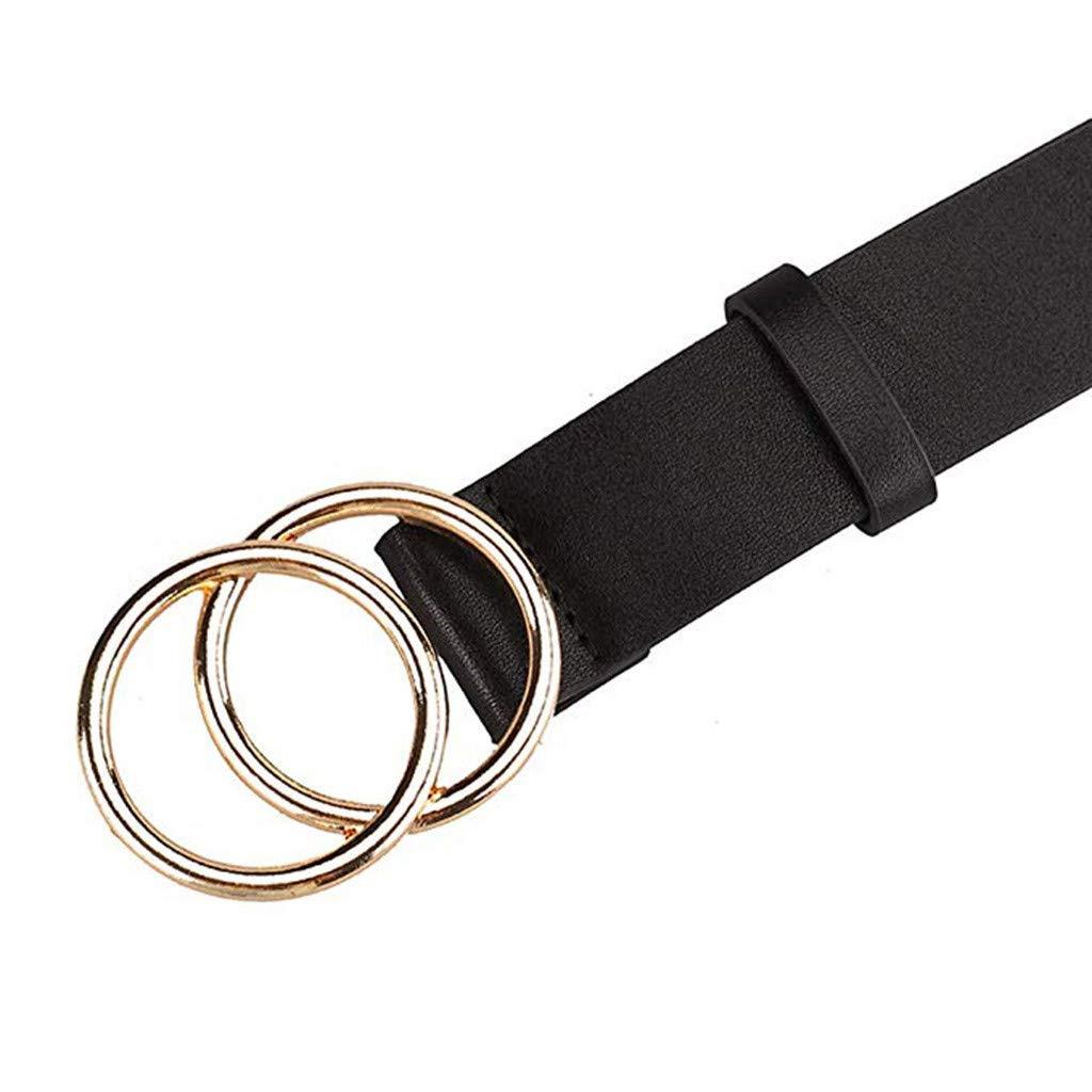 zarupeng✦‿✦ Cinturón de Cuero Simple de la Mujer ...