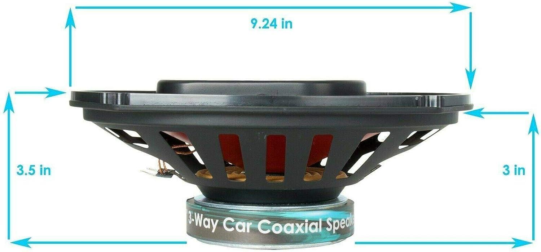Pair of Audiobank 6x9 700 Watt 3-Way Red Car Audio Stereo Coaxial Speakers 2 Speakers AB6970