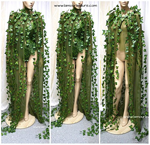 Poison Ivy Mother Earth Cape Cosplay Halloween Costume]()