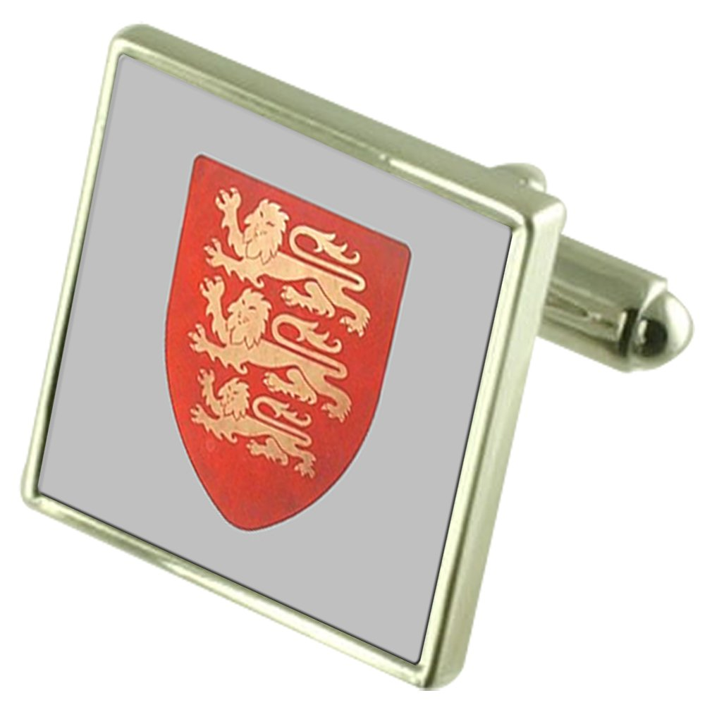 Select Gifts Crusader Knight Shield Cufflinks with Pouch