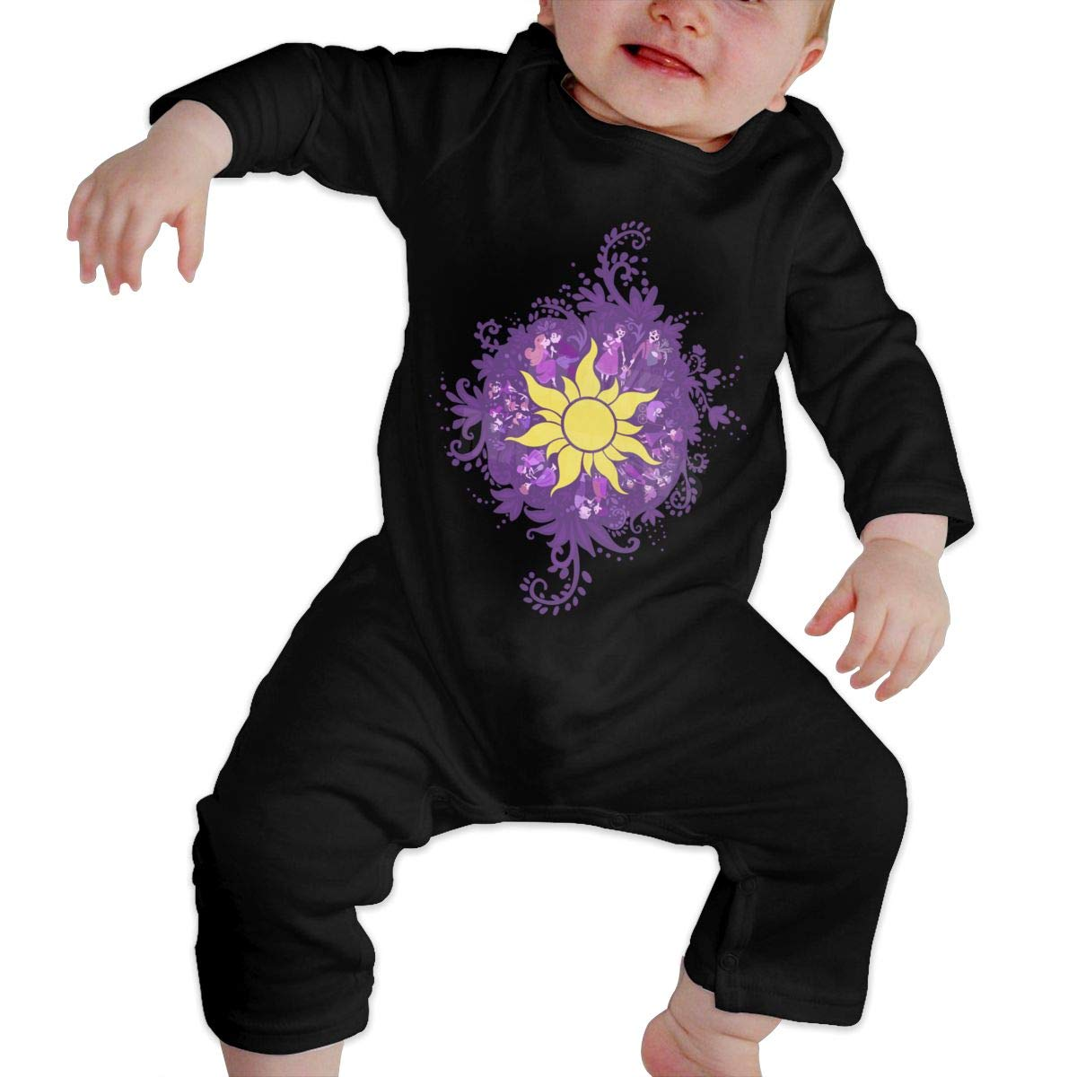 Tangled Sun Symbol Newborn Baby Boy Girl Romper Jumpsuit Long Sleeve Bodysuit Overalls Outfits Clothes