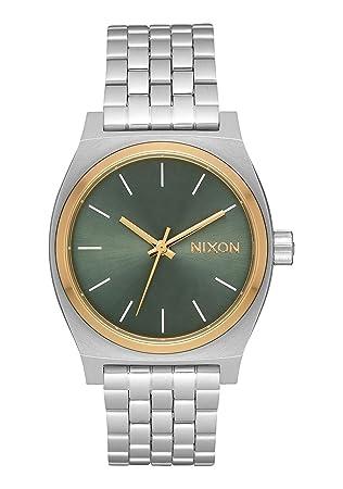 Nixon Reloj Analógico para Mujer de Cuarzo con Correa en Acero Inoxidable A1130-2877-00: Nixon: Amazon.es: Relojes