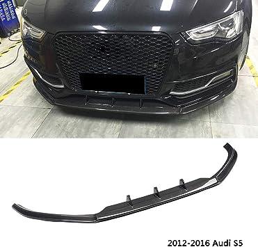 Carbon Fiber Parachoques delantero Canard Splitter Lip Splitter Body palas para A5 S-Line B9 17-18 Duokon Car Front Bumper Lip