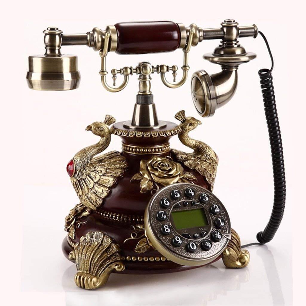 Lixingmingqi ロータリーダイヤル付きレトロ電話、携帯電話とアメリカのヨーロッパおよび米国の樹脂ファッション創造的な携帯電話の庭レトロホーム固定オフィスの電話 (サイズ : C) C  B07S3SLT1B