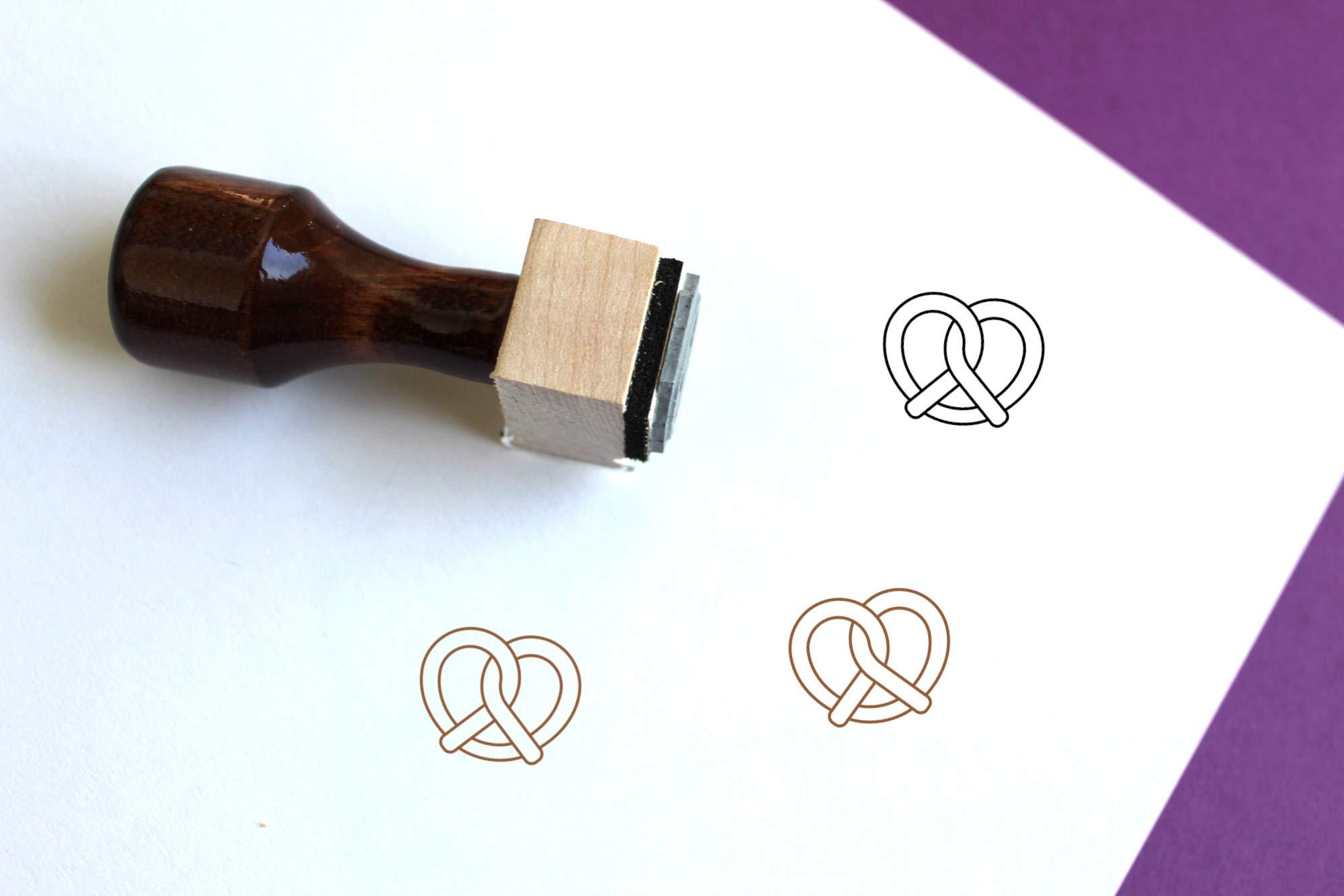 Pretzel Rubber Stamp (2.5'' x 2.5'')