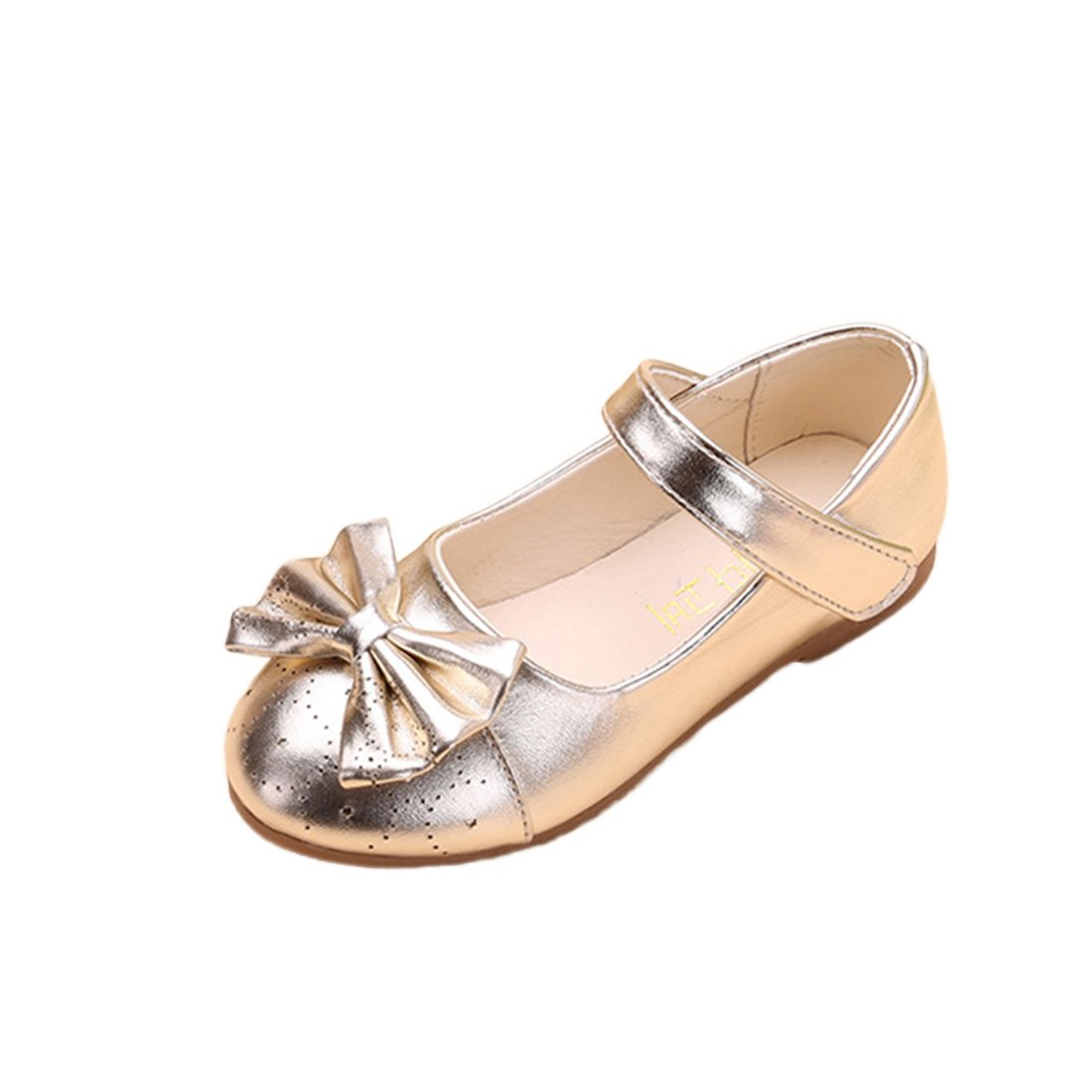 JTENGYAO Baby Grils Dress Up Princess Shoes Flat Heel Dance Shoes For Party Wedding