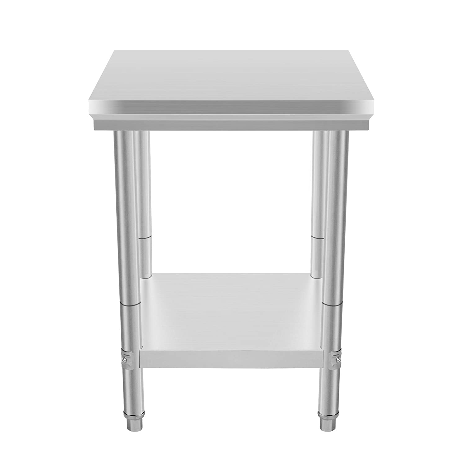 Amazon VEVOR NSF Stainless Steel Work Table 24 x 24 Inches