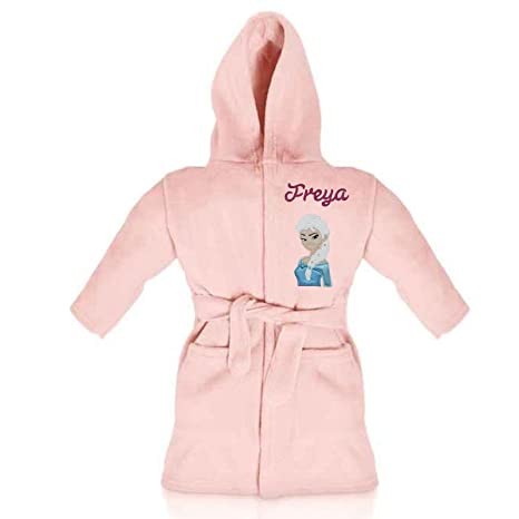 43f8ecd25 Disney Frozen Elsa Luxury Personalised & Applique Super Soft Fleece Dressing  Gown/Bathrobe (1-2 Years): Amazon.co.uk: Baby