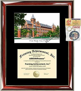 Saint Louis University diploma frames SLU lithograph frame campus sketch framing graduation degree gift college plaque certificate holder