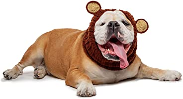 Zoo Snoods Grizzly Bear Dog Costume - Neck and Ear Warmer Snood for Pets
