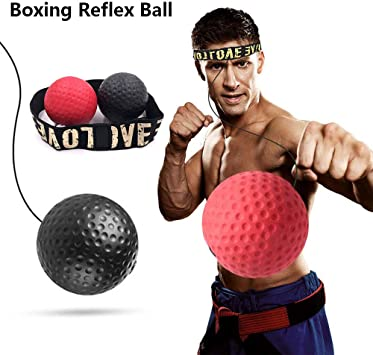 Pelota Entrenamiento de Reflejos Boxeo, Pelota Boxeo con Diadema ...