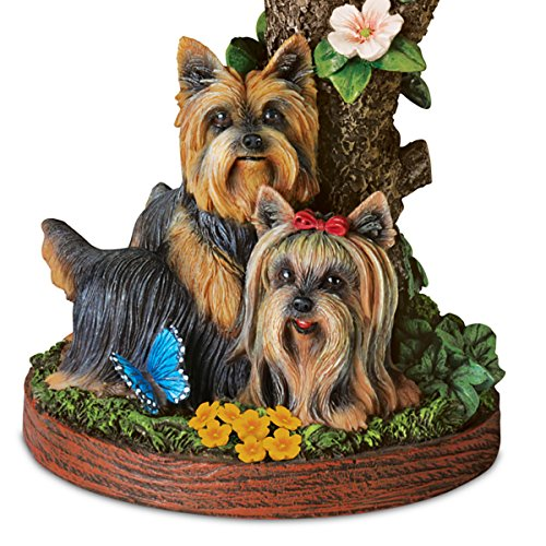 Linda Picken Darling Yorkie Accent Table Lamp With Sculpted Yorkies Base by The Bradford Exchange by Bradford Exchange (Image #4)