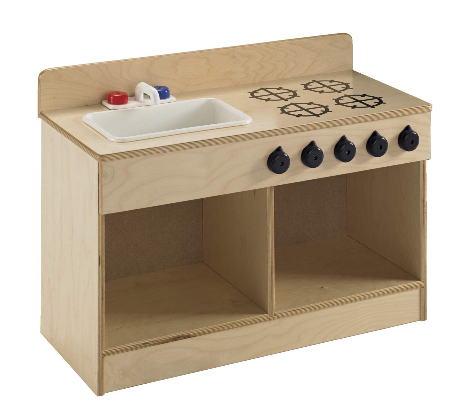 Childcraft 1491196 Toddler Sink and Stove Combo, 21.5'' Height, 13.38'' Width, 29.5'' Length, Natural Wood by Childcraft (Image #3)