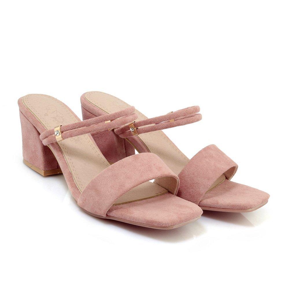 Sandales pour Femmes, Talons Rose Talons Hauts, Pantoufles pour Rose 710facb - boatplans.space