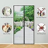 Magnetic Screen Door, KOMAKE Door Screen Curtain with Full Frame Seal Hands Free