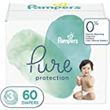 Diapers Size 3, 60 Count - Pampers Pure Protection Disposable Baby Diapers, Hypoallergenic and Unscented Protection, Super Pa