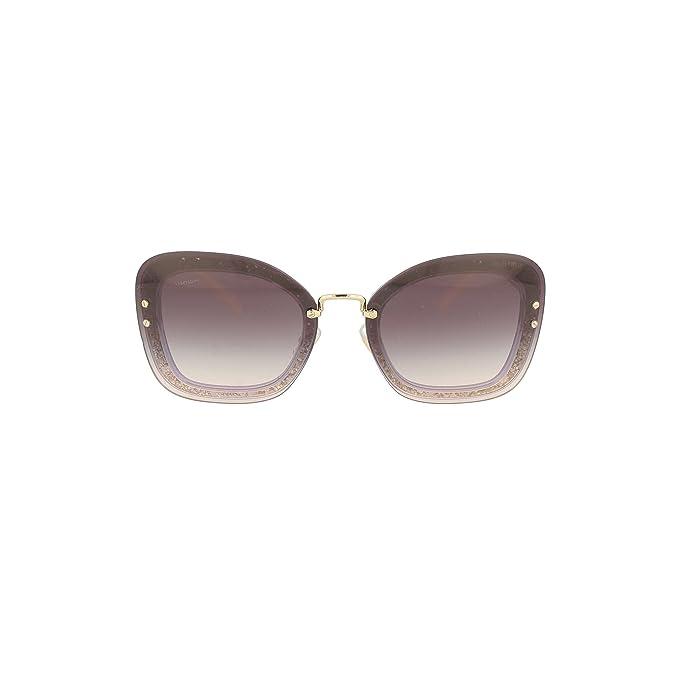 Amazon.com: MIU MIU Mujer revelar purpurina anteojos de sol ...