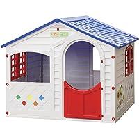 GRAND SOLEIL, Casamia, casetta da Giardino in Resina, in Polipropilene, Dimensioni 130x 106x 115cm (l x p x h), Colori Bianco, Rosso e Blu