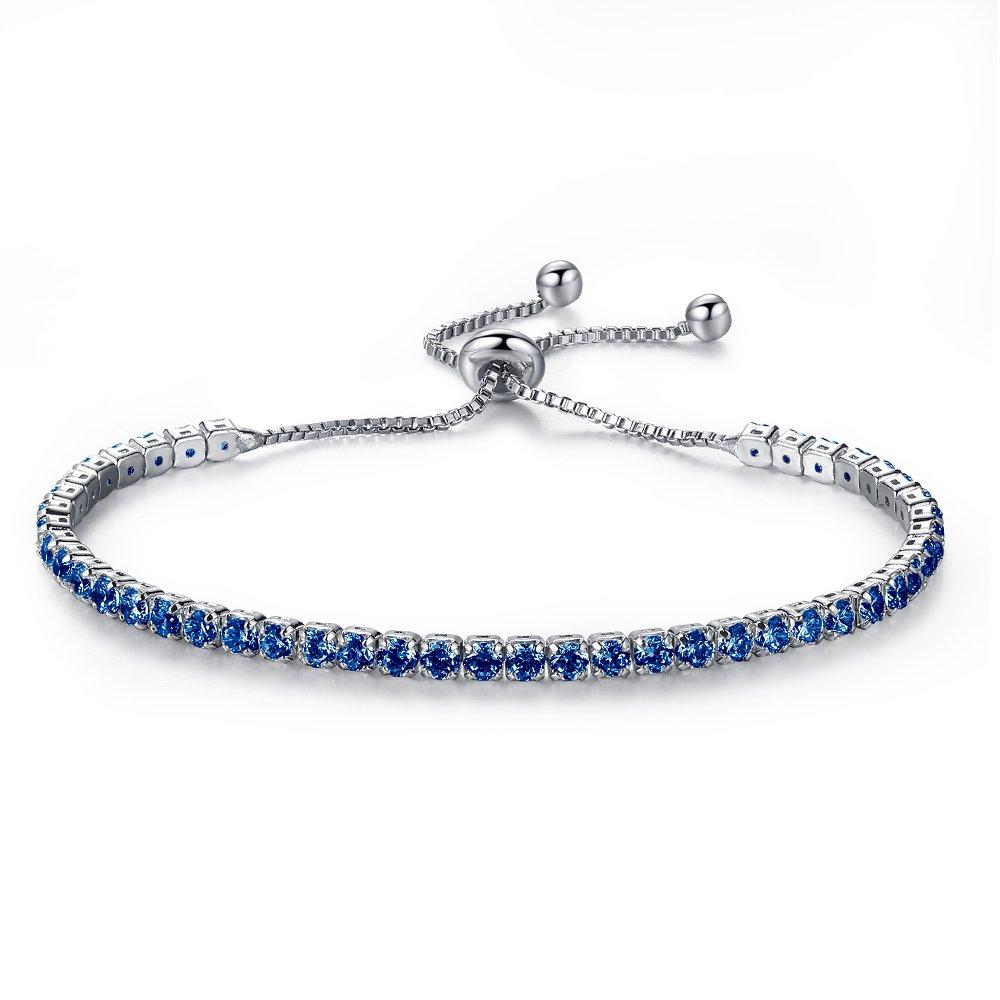 CHOOOICE CZ Diamond Paved Adjustable Chain Bracelet Fashion Adjustable Chain Bracelet for Women Bridesmaid Jewelry Gift