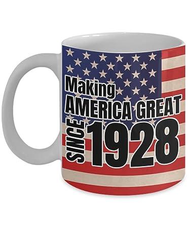 Amazon Making America Great Since 1928 Mug 90th Birthday Gifts