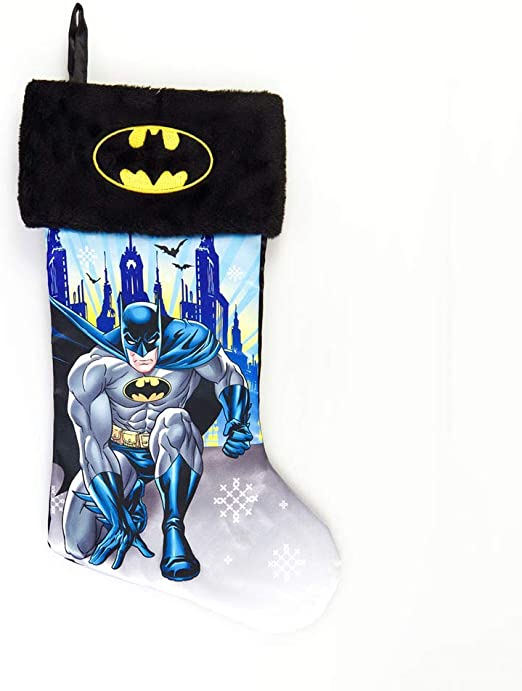 "18/"" DC Comics Justice League Satin Christmas Stocking with Plush Cuff"