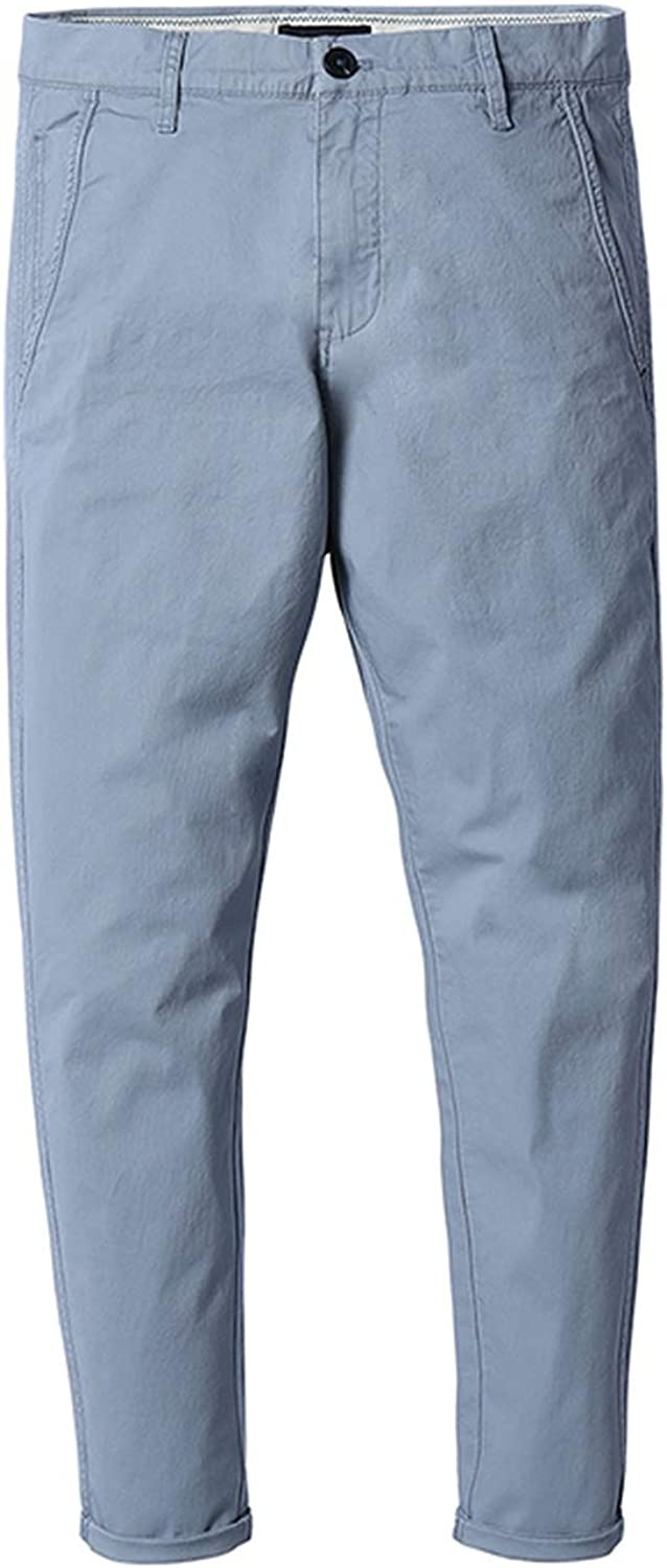Glittering time 2019 New Summer Spring Casual Pants Men Fashion Trousers,Light Gray Blue,32