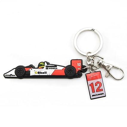 Amazon.com: Ayrton Senna McLaren MP4/4 - Llavero de goma ...