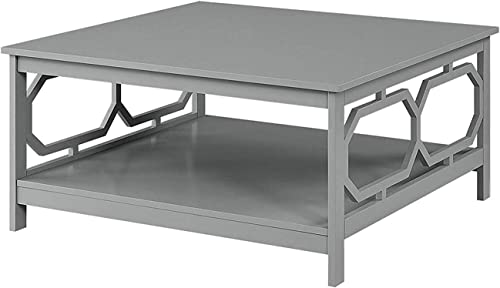 Convenience Concepts Omega Square 36 Coffee Table, Gray