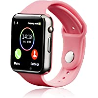 Smart Watch, Janker Smartwatch Phone Sport Smart Wrist Watch With SD Card Pedometer Camera Call Text Touchscreen Compatible BlackBerry Android And IPhone (Partial Features) For Women Teens Pink