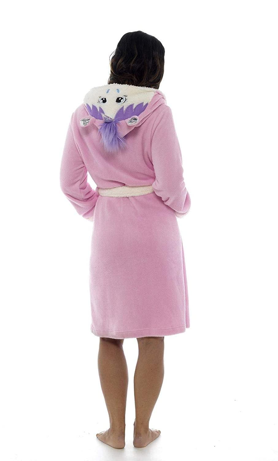 Ladies Girls Unicorn 3D Hooded Pink Dressing Gown Sherpa Lining  Mother Daughter Matching Mini Me Supersoft Fleece  Amazon.co.uk  Clothing 310101c27