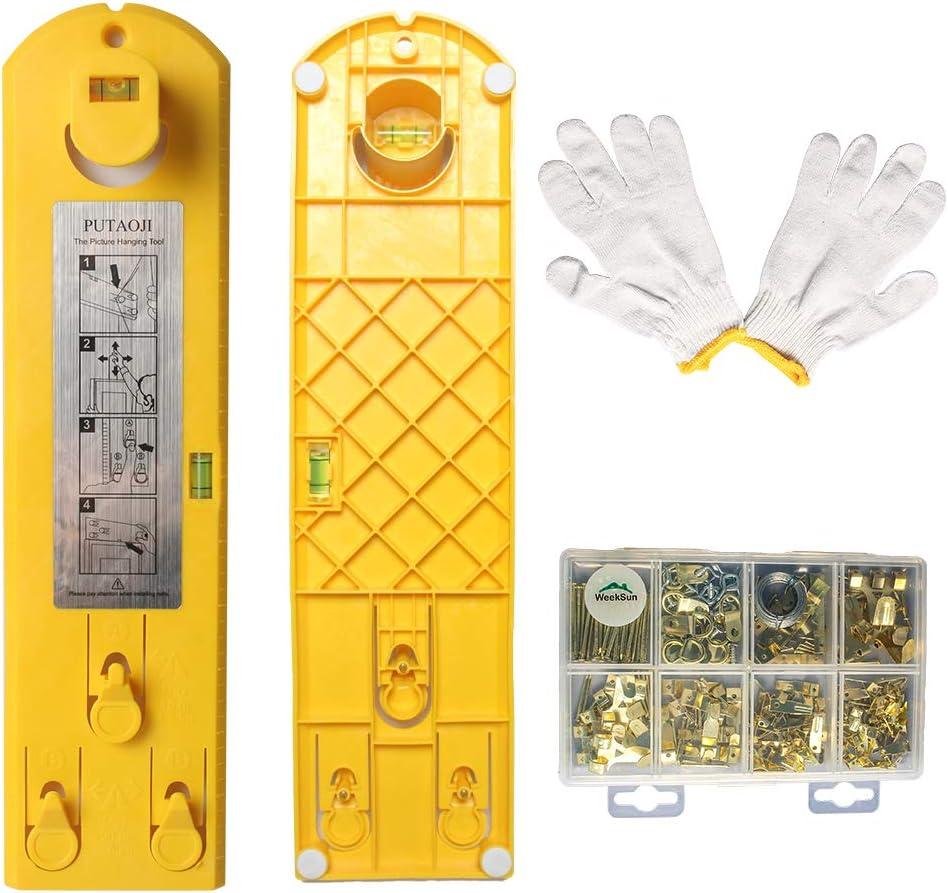 kit para colgar cuadros de acero inoxidable 30 Metros Kit para Colgar Fotos funda de lazo para engarzar para marcos 50 piezas de colgadores de cuadros con anillo en D con 50 tornillos