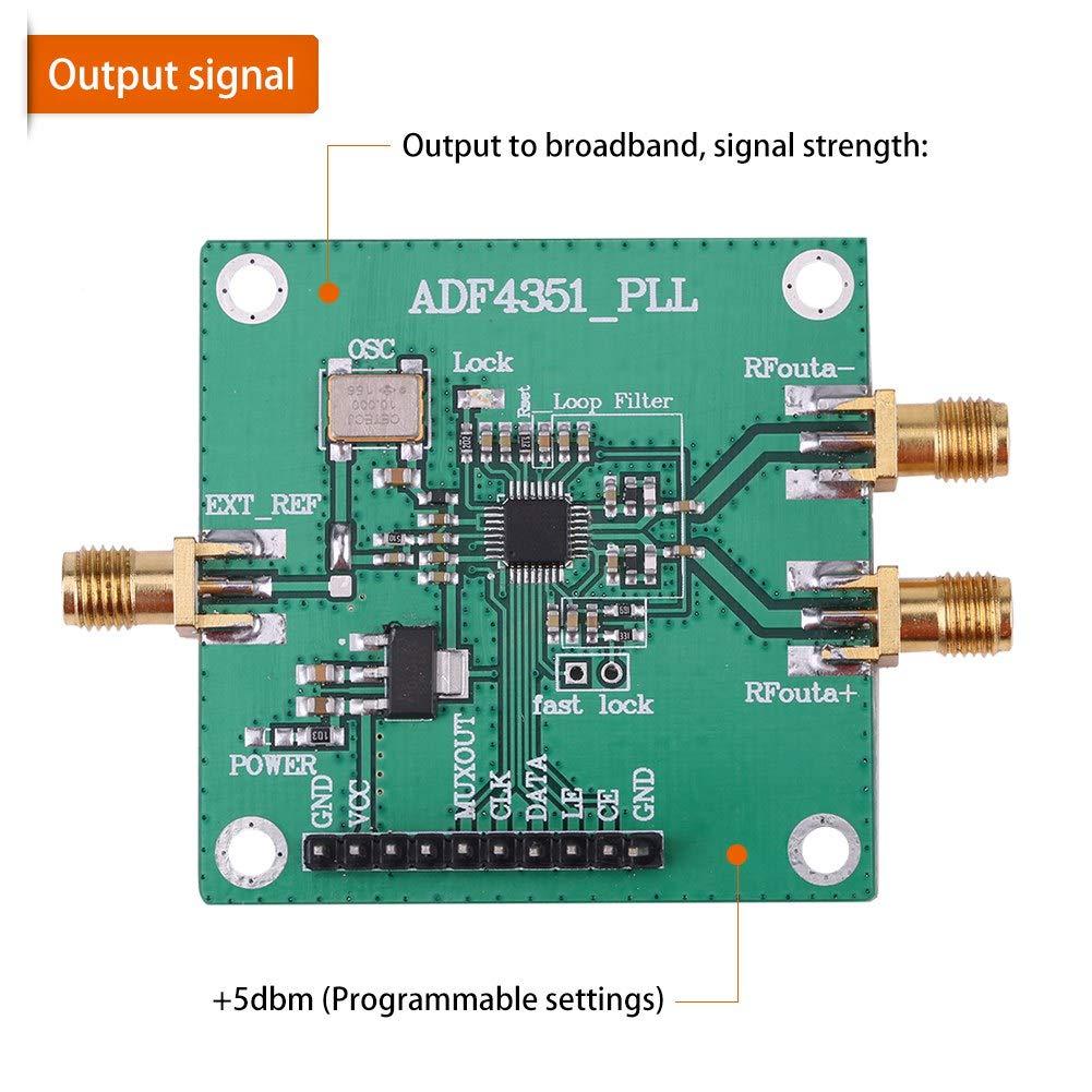 RF Signal Quelle Frequenzsynthesizer 35M-4.4GHz ADF4351 Entwicklungsboard E8R9
