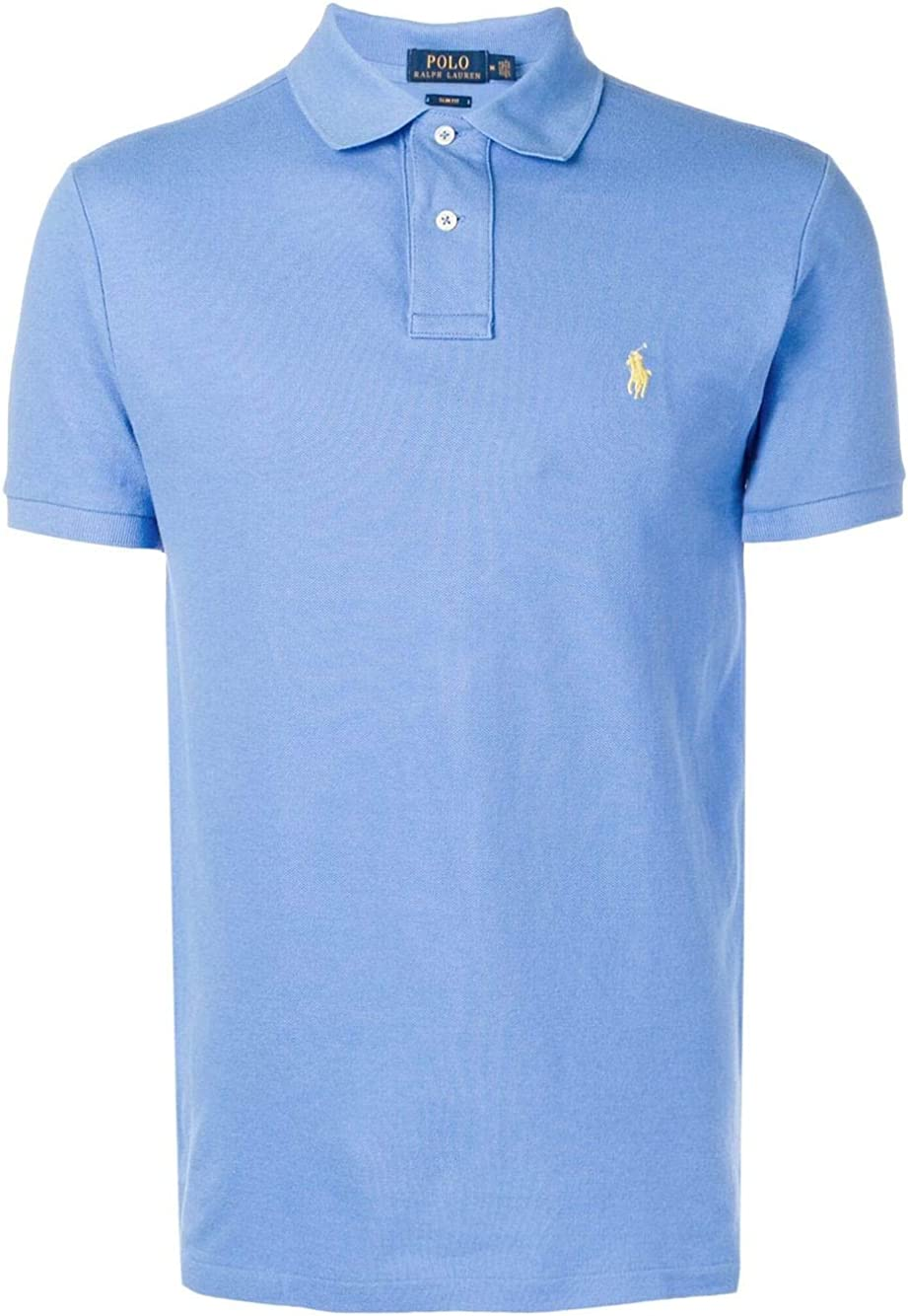Ralph Lauren - Polo Manga Corta Color BLU Ciel - L, Azul: Amazon ...