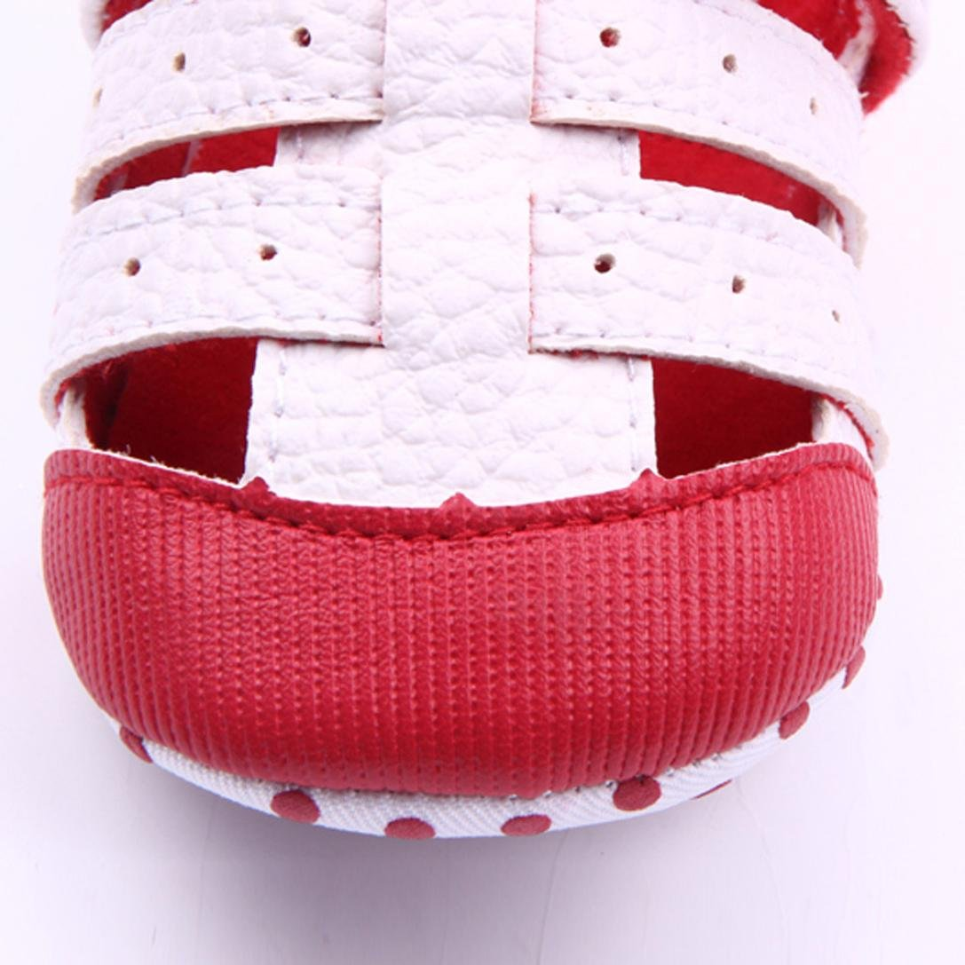 WARMSHOP Newborn Baby Boys Girls Prewalker Shoes Mixed Colors PU Breathable Soft Fashion Causal Shoes
