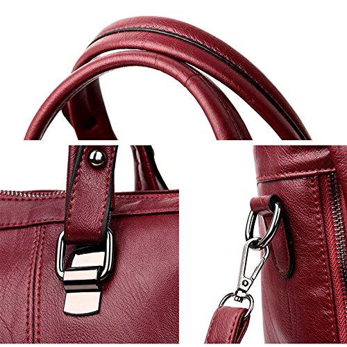 Handbag Fashion Solid Women Bag Pu Color Messenger Bag Shoulder Purple xUgEwtq