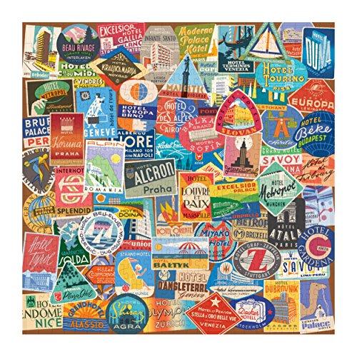 Review Vintage Travel Luggage Labels 500 Piece Puzzle