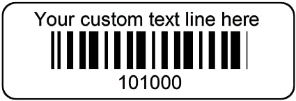1000 Serial Number Barcode Labels 1-1/2