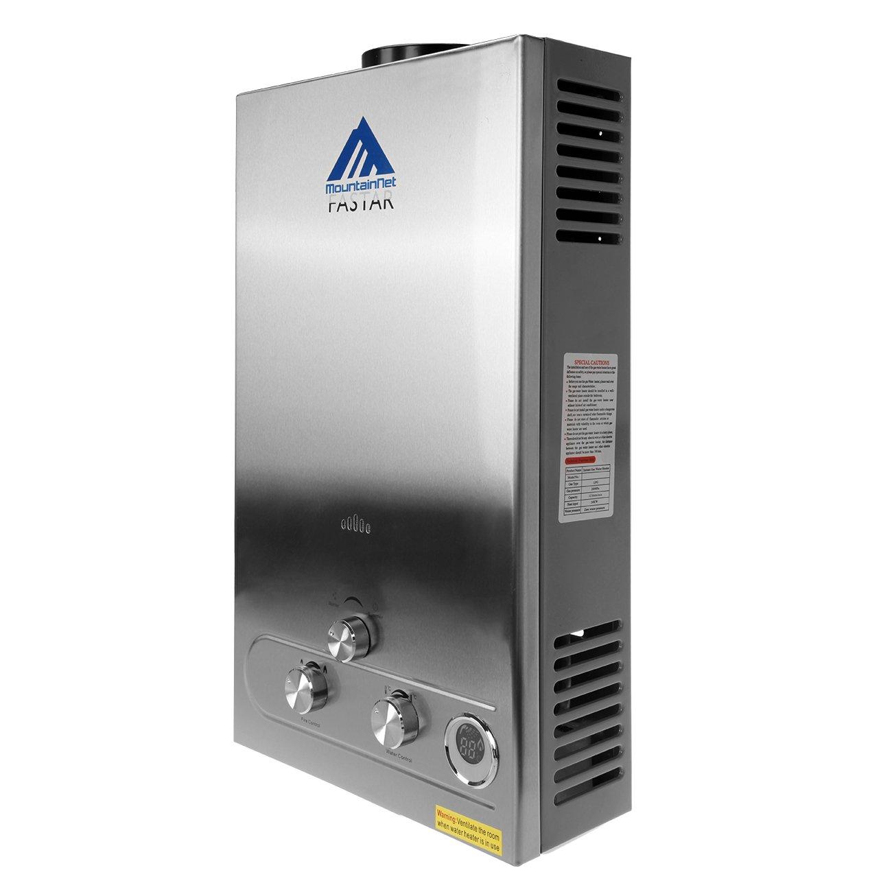 Ridgeyard 12L GLP gas propano sin tanque calentador de agua caliente instant/áneo con cabezal de ducha
