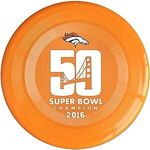 SYYFB Unisex Denver 50th Football Game Win Outdoor Game Frisbee Flyer Frisbee RoyalBlue