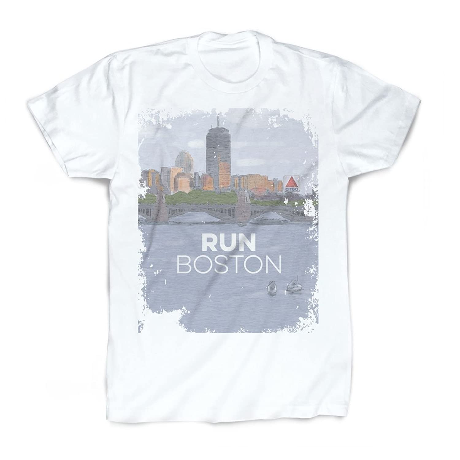 Gone For a Run Vintage Running T-Shirt - Boston Sketch