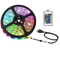 USB LED-strip met afstandsbediening, 3m, 5050 RGB, flexibele kleur, DIY