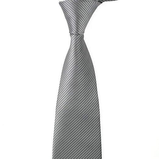 YAzNdom Corbata Color sólido de los Hombres Poliéster Color sólido ...